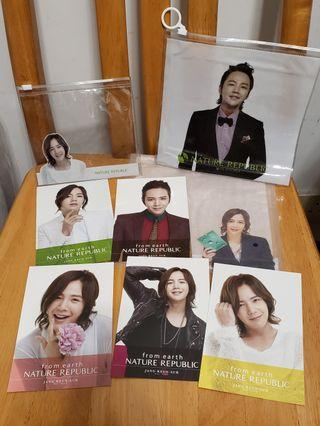 張根碩Nature Republic明信片+Zip bag(JANG KEUN SUK POSTCARD)