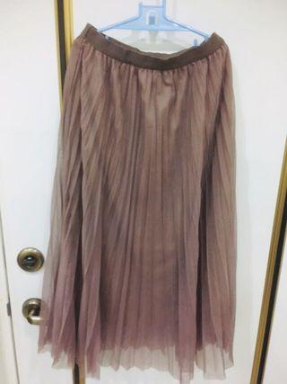 氣質裸粉紗裙
