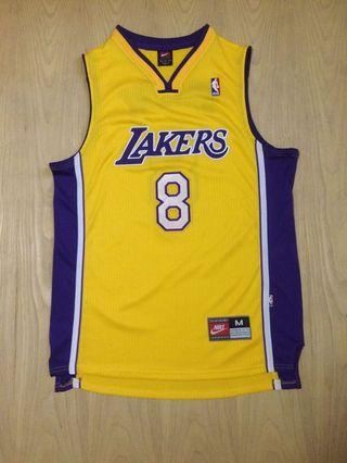 c0286b6de34 Yellow LA Lakers Kobe Bryant throwback Nike swingman jersey