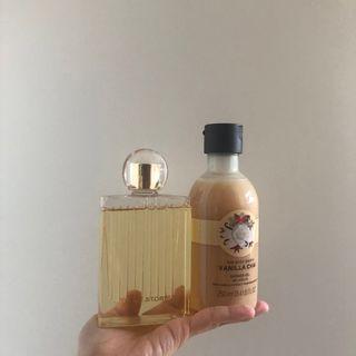 🚚 A set- Chloe and body shop shower gel