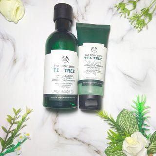 [SHARE] Paket The Body Shop Tea Tree Facial Wash & Face Scrub
