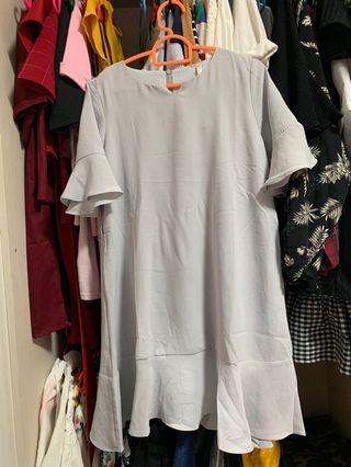 Grey Eyescream Dress