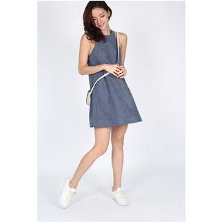 Love Bonito Striana Faux Suede Swing Dress