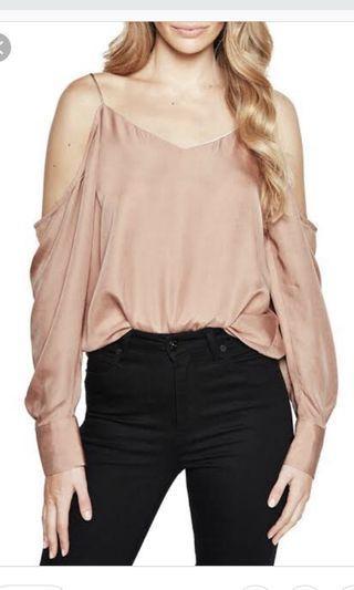 Bardot Cold Shoulder Bianca Top Dusty Rose