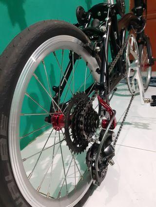 Sepeda lipat trifold 3s full upgrade