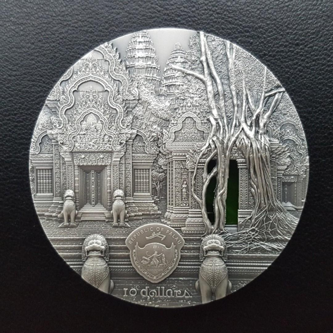 2019 Tiffany Art Angkor Wat 2oz 99.9% ultra high relief antiqued silver coin