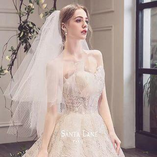 2019 New arrival simple and elegant design wedding gown