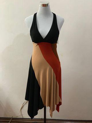 XOXO // plunging neckline dress