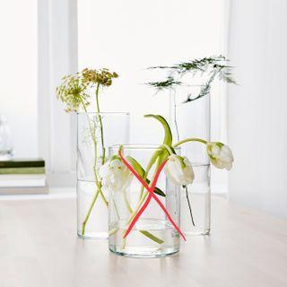 Ikea cylinder glass vase