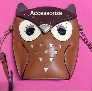 🚚 Accessorize 貓頭鷹造型斜背包