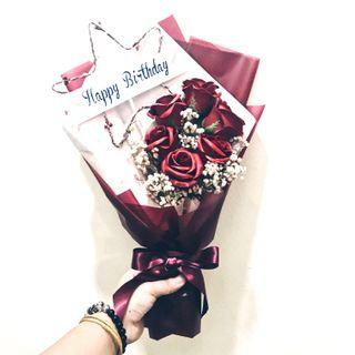 🚚 Red Rose Soap Birthday Bouquet