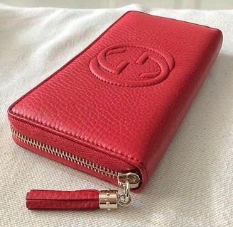 Unused/ new Gucci red long wallet