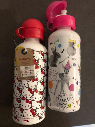 Hello Kitty Water Bottle and other typo bottle