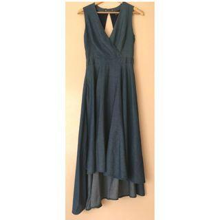 PIPER chambray midi dress Size 8