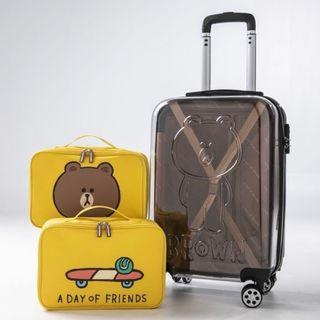 """2019 latest limited edition Line Brown 20"""" cabin size luggage"""