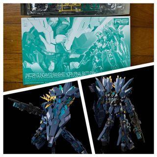 Banshee Norn Final Version Pbandai Gunpla Gundam Unicorn Rg