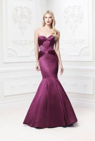 Truly by Zac Posen Satin Fit and Flare Dress