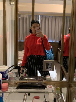 H&M Knitted Mock Neck Sweater