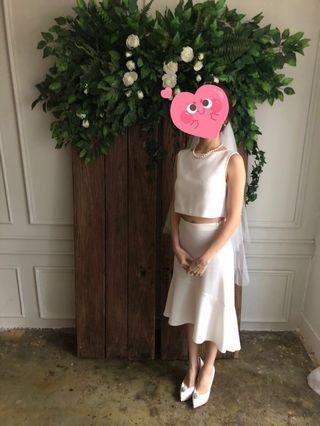 Pre-wedding dress / gown / 韓式婚紗 / bride and you 款式/ 頭紗 / vintage 婚紗/ 型格婚紗 /外影