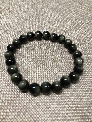 🚚 8mm Golden Obsidian 金曜石Bracelet