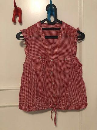 Top sleeveless Zara wanita