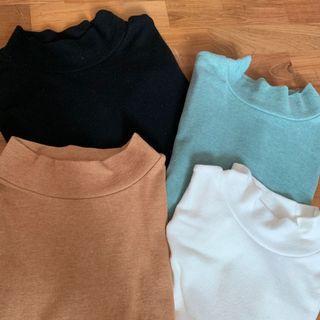 ulzzang mock neck shirt clearance