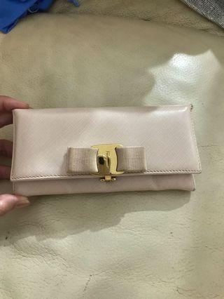 Ferragamo long wallet pink
