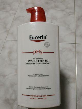 [BNIB] Eucerin PH5 FOR BODY & FACE WASHLOTION PRESERVES SKIN RESILIENCE 1000ml