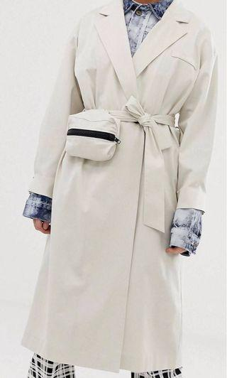 Collusion beige trench coat