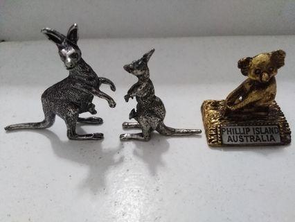 Kangaroos/ koala-3 pcs