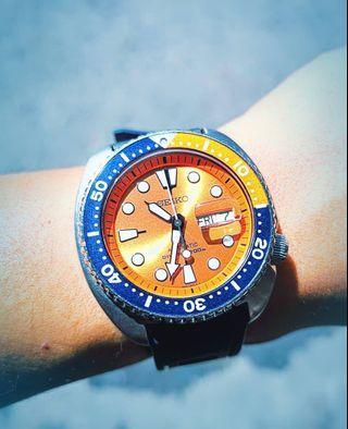 SEIKO PROSPEX Turtle Diver 200M Automatic Watch Orange Dial SRPC95K1