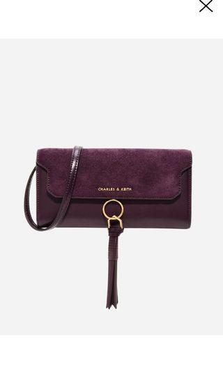 Charles and Keith Tassel-detail wallet