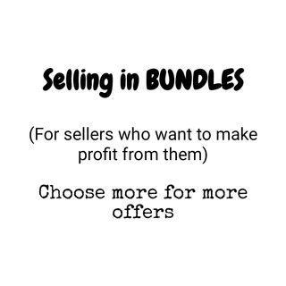 Selling in bundles (dress, top, bottom & accesorries)