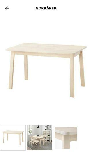 NORRAKER - IKEA Dining Table + Bench + Stool