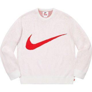 Supreme Nike Swoosh Sweater 白色毛衣 全新現貨在台 L號