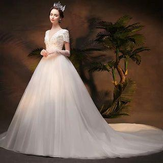 2019 new arrival  simple  and elegant Wedding Dress