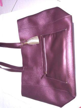 Tas handbag hnm bershka maroon marun