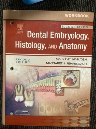 🚚 Dental embryology histology and anatomy textbook for dental hygienist or assistant