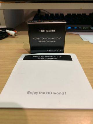 🚚 新品拆封4K TOMSENN HDMI to HDMI + AUDIO HDMI Converter
