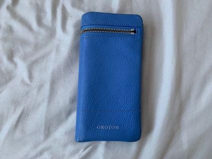 Oroton Bueno-Soft Fold Wallet - Blue