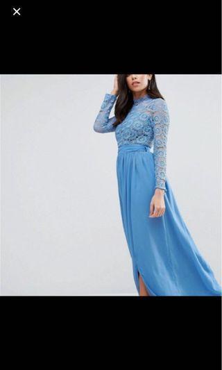 BNWT blue bridesmaids dress