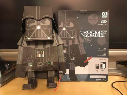 """12""""吋 STAR WARS 星球大戰 Darth Vader 黑武士 摺紙公仔MOMOT TOYZ <韓國製造>"""