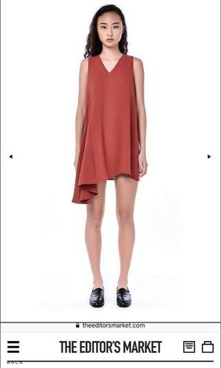 TEM Dress in Rose Wood