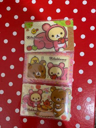 Rilakkuma sticker cards