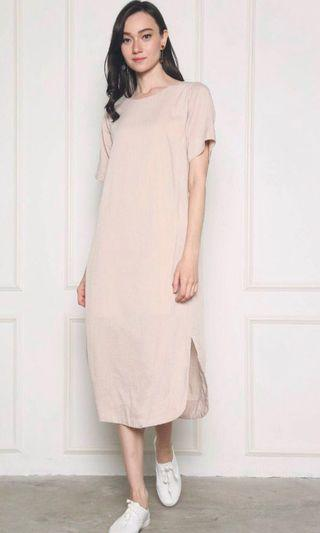🚚 Hollyhoque baker pocket maxi dress malt