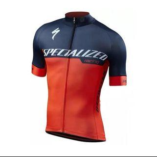 🚚 [IN-STOCK] Men's Specialized Cycling Jersey Top Blue and Red