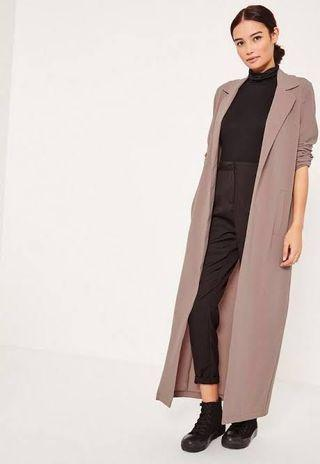 Light brown maxi duster jacket