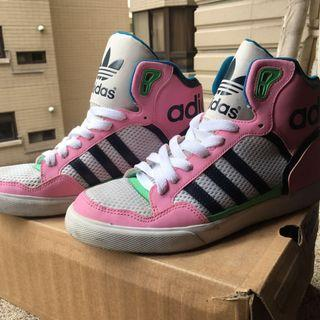 adidas extabhll 粉色高筒籃球鞋