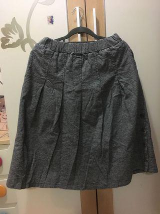 格子半身长中裙