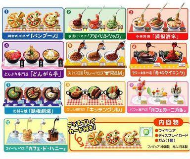 Re-ment 元祖 鋪頭門外 display食物模型迷你版